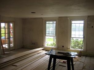 Livingroom floors back to pine