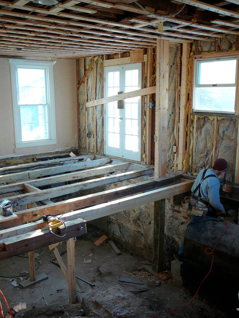 Those beams? The kitchen floor!