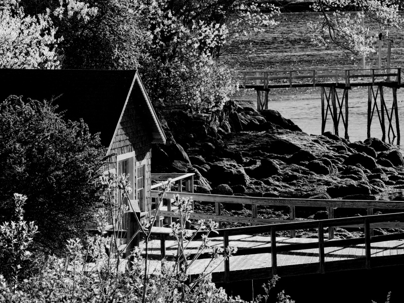 The Boathouse Next Door. Southport, Maine.